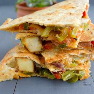 tandoori paneer quesadilla recipe