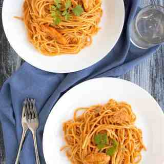 butter chicken pasta recipe