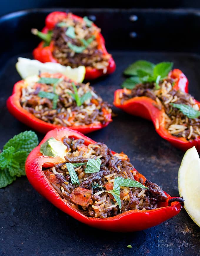 stuffed capsicum or bell pepper indian style