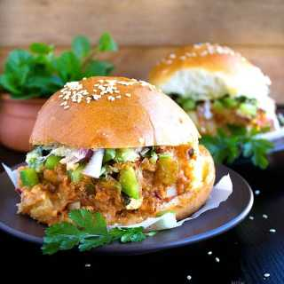 cheesy paneer pav bhaji sliders recipe video