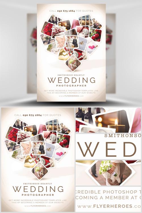 Flyer Template PSD - Wedding Photographer » NitroGFX - Download - wedding flyer