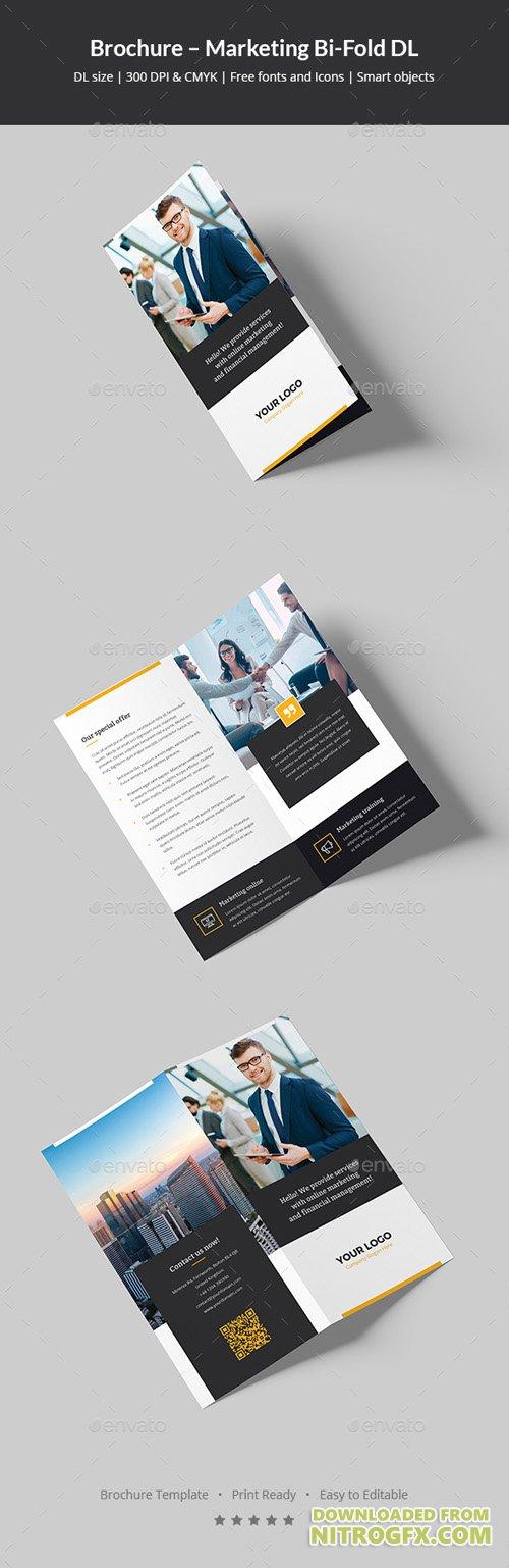 Moenia Bi Fold Brochure Template Brochure Templates Pixeden 2 Fold - half fold brochure template
