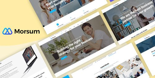 ThemeForest - Morsum v1.0 - Agency PSD Template - 23057718