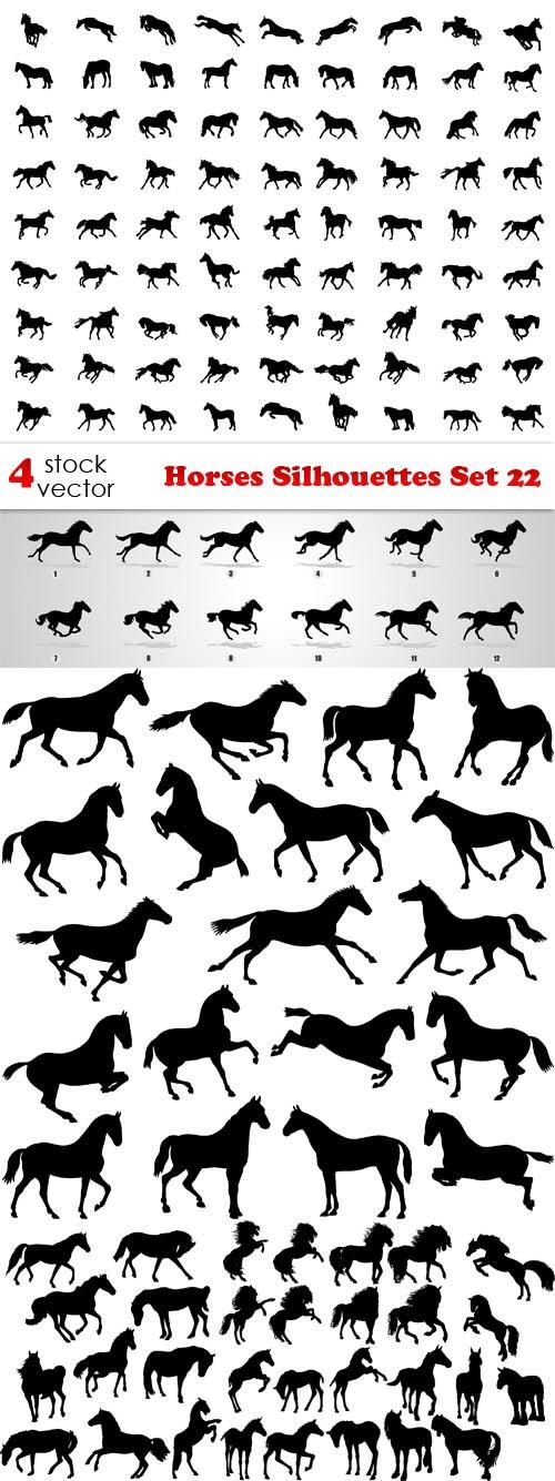 Vectors - Horses Silhouettes Set 22