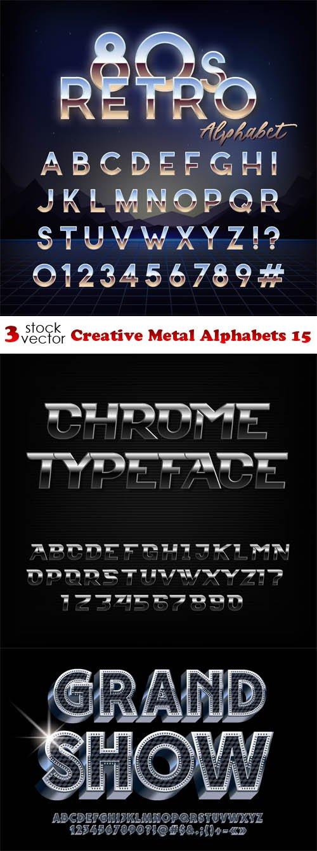 Vectors - Creative Metal Alphabets 15