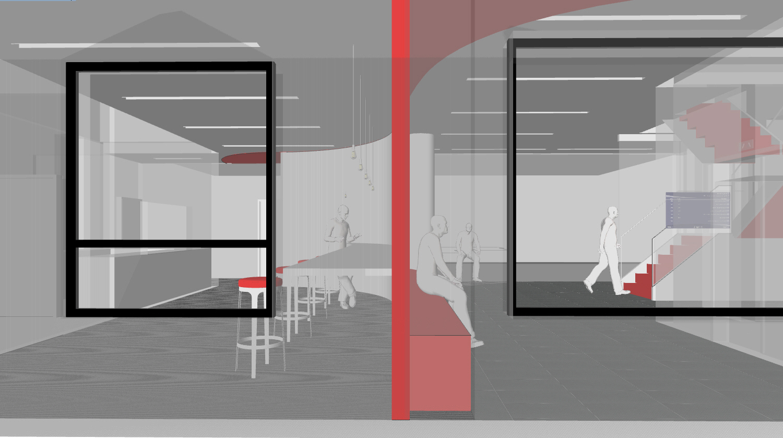 A rendering of Hoboken Business Center.