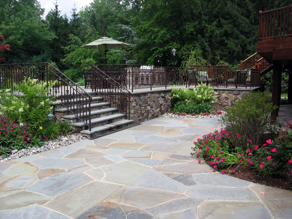 Natural Stone Patio \ Wall Design For Pools \ Landscaping NJ   Landscape Wall  Design