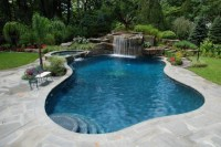 Tropical Backyard Waterfalls - Allendale NJ | Cipriano ...
