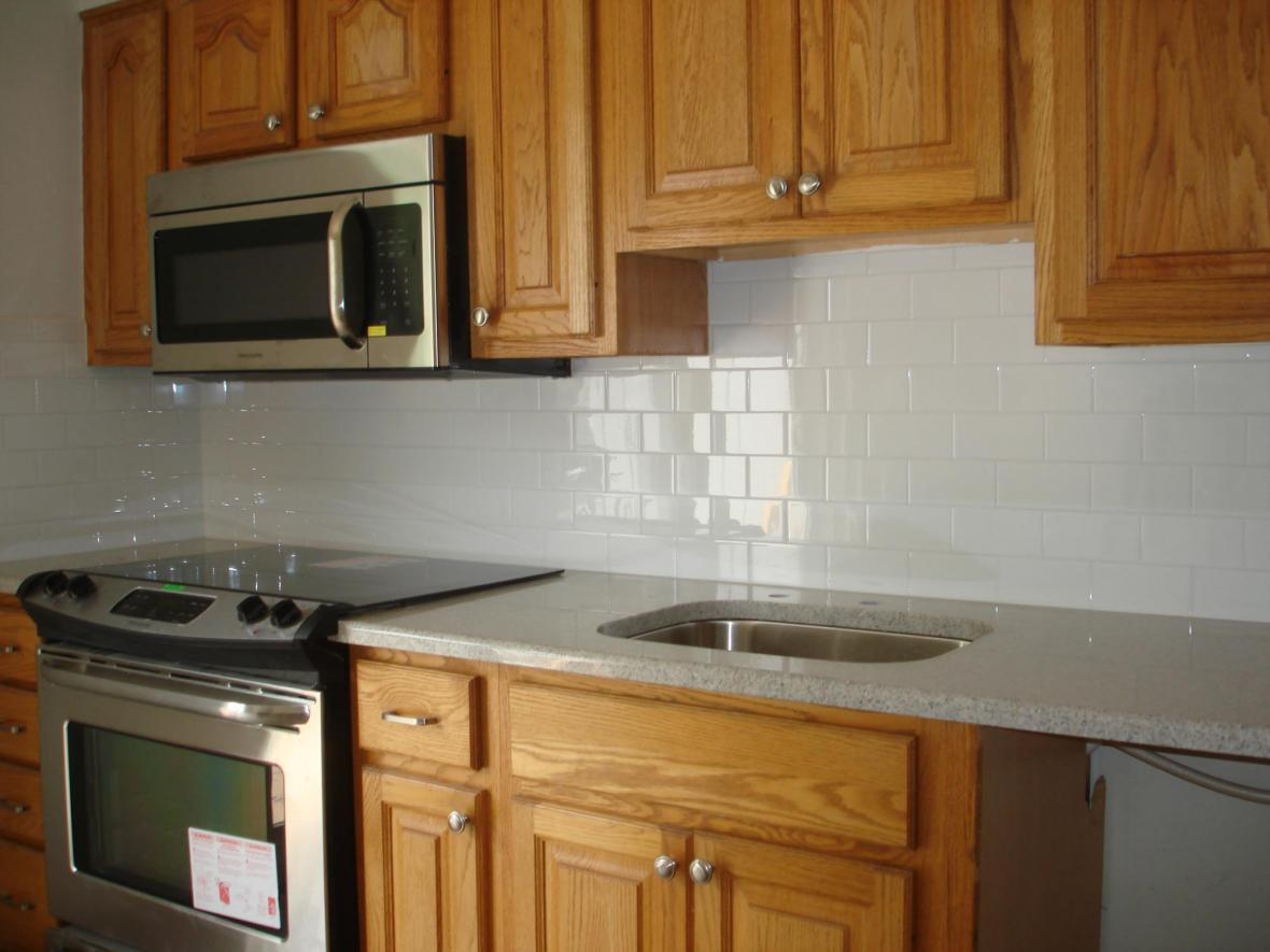 Kitchen Design Subway Tile Backsplash Clean And Simple Kitchen Backsplash White 3x6 Subway Tile