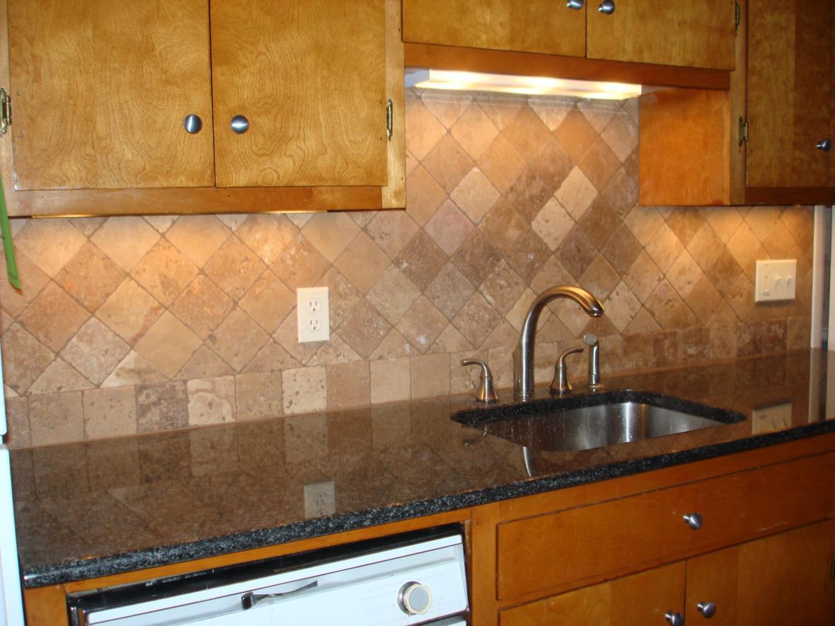 read tumbled travertine kitchen backsplash diagonal kitchen backsplash