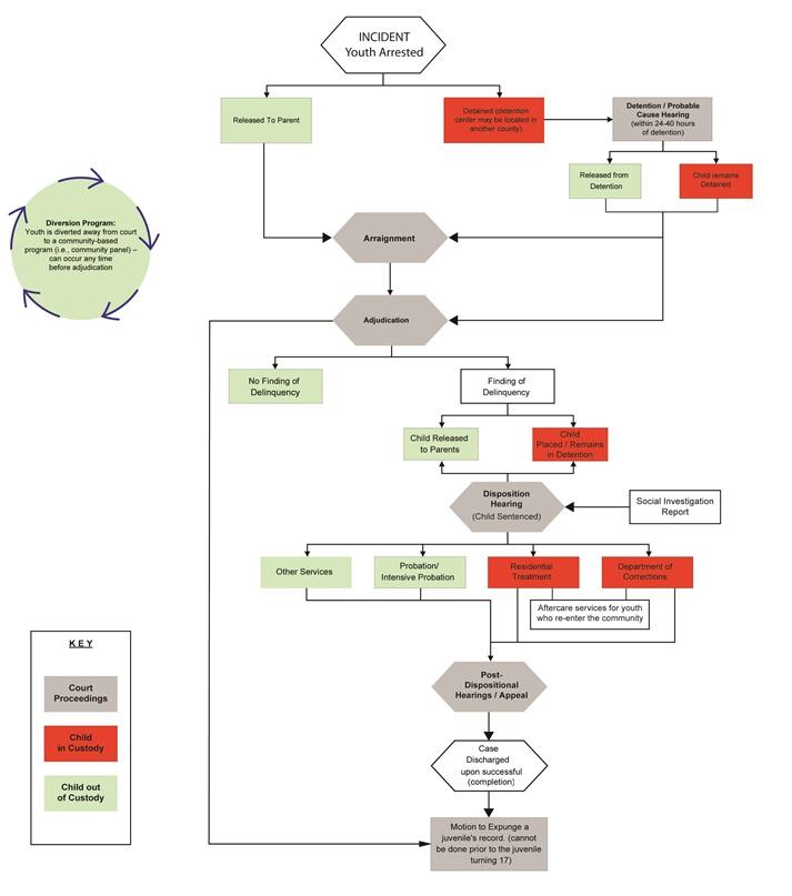 Flowchart of the Juvenile Court Process NJDC