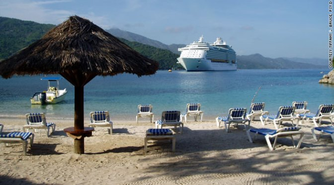 A Royal Caribbean passenger took this photo of the cruise line's facilities in Labadee, Haiti, during a stop in 2006