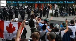 Toronto Police in Full Riot Gear Beat Peaceful G20 Protesters