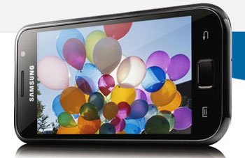 Samsung Galaxy S Vibrant, brilliant screen and fast processor on Android smart phone