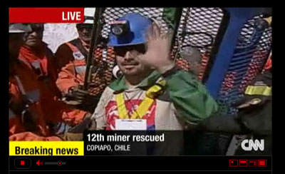Amazing Chilean mine rescue played out on TV