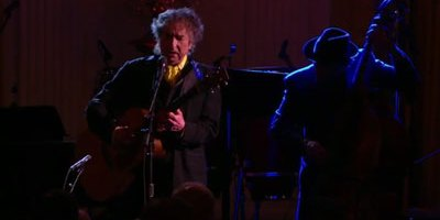 Bob Dylan singing at The White House (photo and video courtesy of The White House)