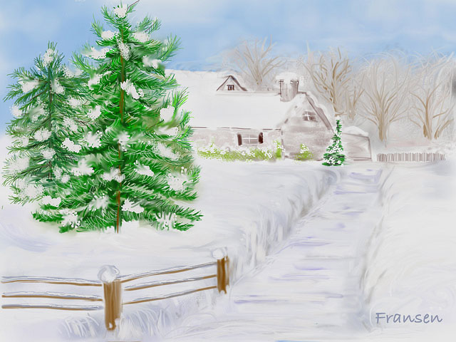 Christmas Day, on an iPad by Faye Hansen (all rights reserved)