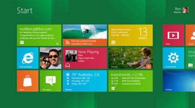 Windows 8 main screen