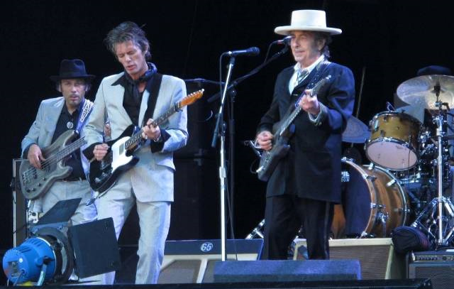 Bob Dylan and his band in Ireland 2010