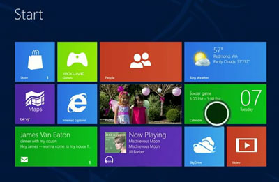 Windows 8 touch point is the circle