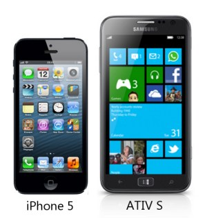 iPhone 5 and Samsung ATOV S