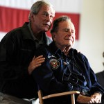 President Bush in intensive care