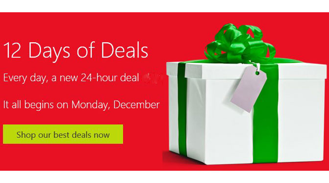 Microsoft Starts 12 Days of Deals With $80 Off Acer Aspire