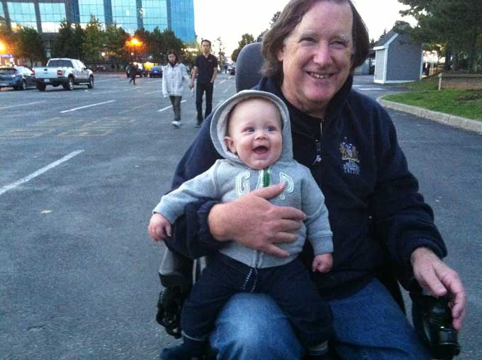 Being A Grand Dad in a Wheelchair Isn't So Bad