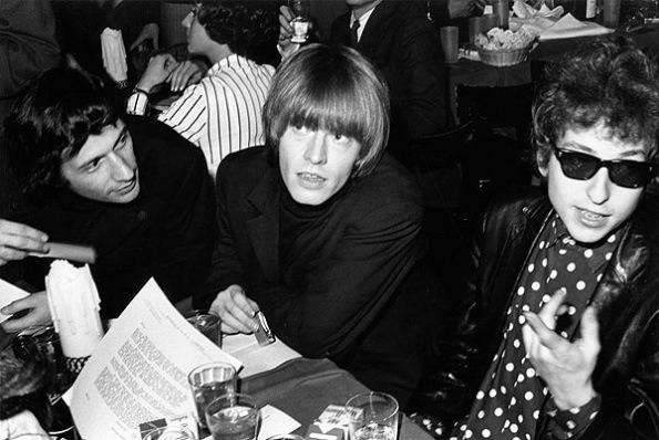 Brian Jones and Bob Dylan 1965 table