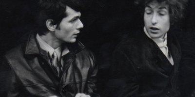 Al Kooper and Bob Dylan during Blonde on Blonde recording