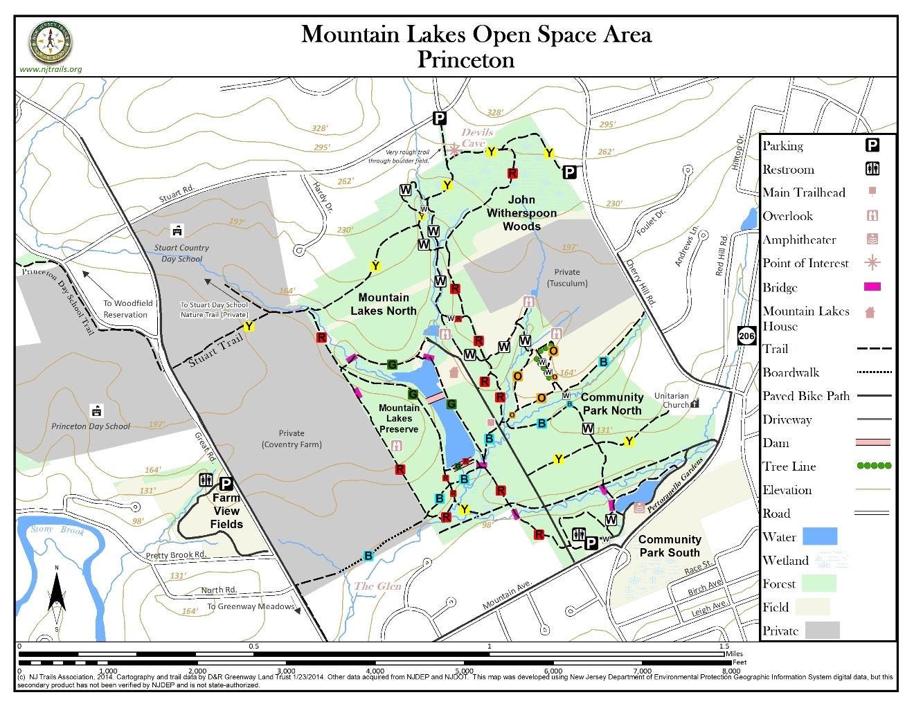 North Lakes Opening Hours Mountain Lakes Open Space Area New Jersey Trails Association