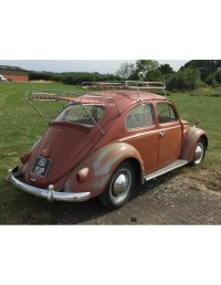 Classic Beetle NLA VW roof rack silver powder coating with ...