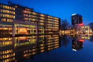 Arnhem, Velperweg, Tejin, Blue Hour, Cityscape