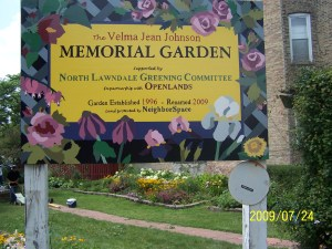 Velma Johnson Memorial Garden.