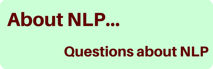 Frequently asked questions about NLP