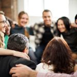 52039794 - team huddle harmony togetherness happiness concept