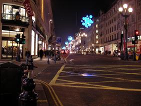 Xmas London Regent Street lights
