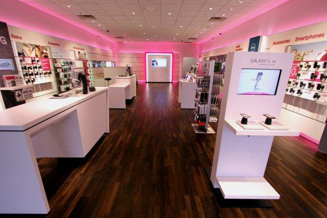 Tech Track Lighting Fixtures T-mobile Global Design Concept Redesign | Retail Customer