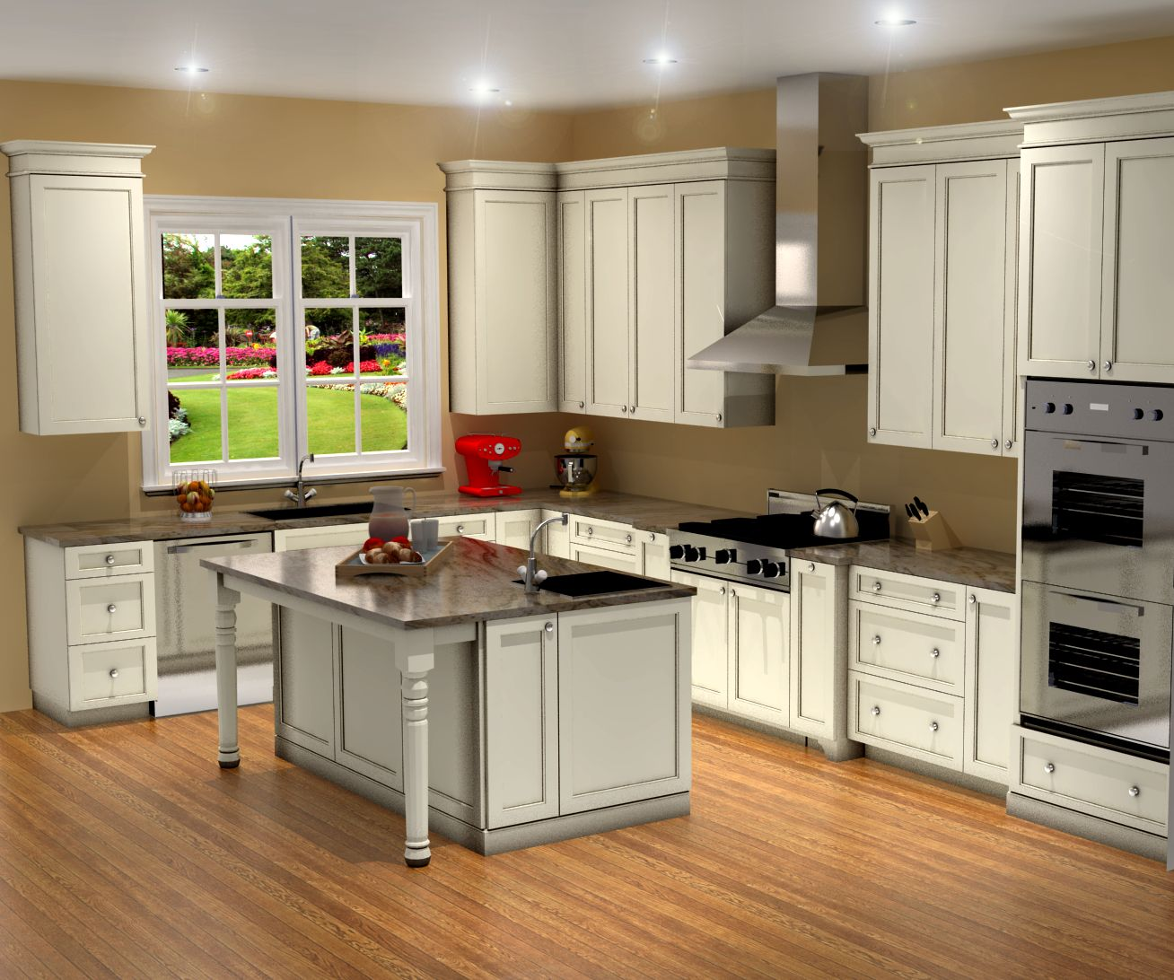Kitchen Cabinets Design Video Traditional White Kitchen Design 3d Rendering Nick