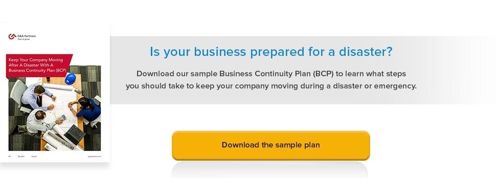 Business Continuity Plan (BCP) - GA Partners - business continuity plan