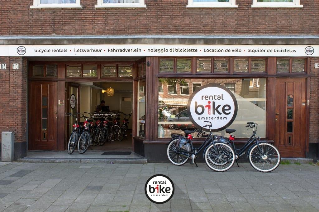 De winkel van Rentalbike op de Westerstraat 115 in Amsterdam