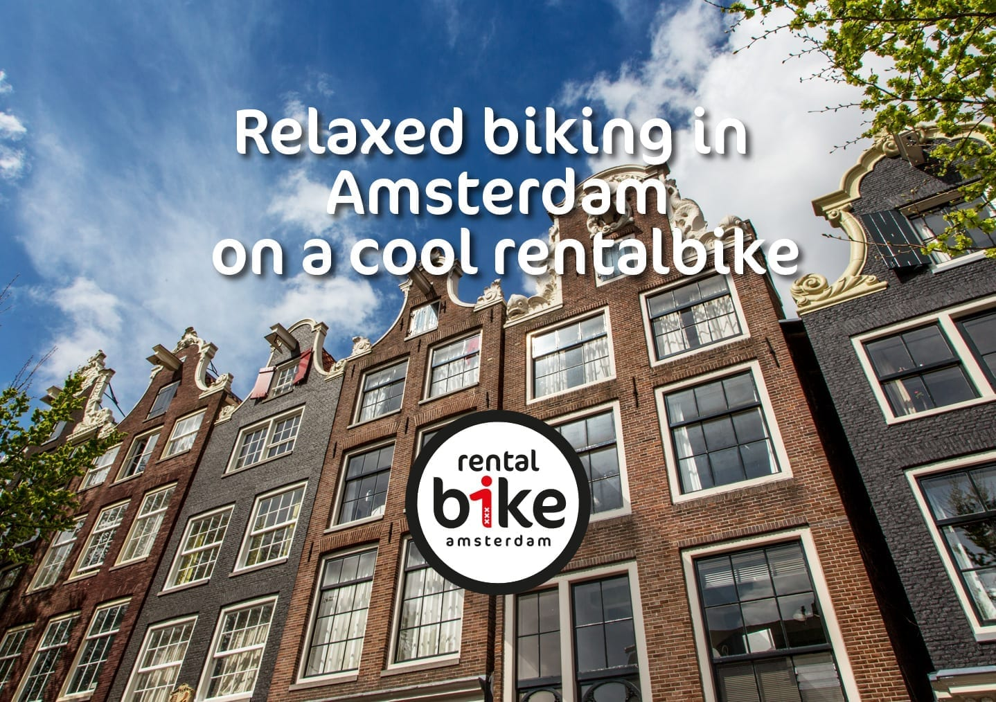 Relaxed biking in Amsterdam on a cool rentalbike