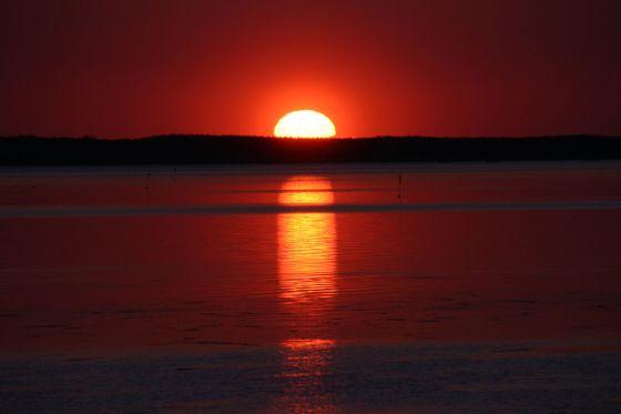 サロマ湖の夕陽2