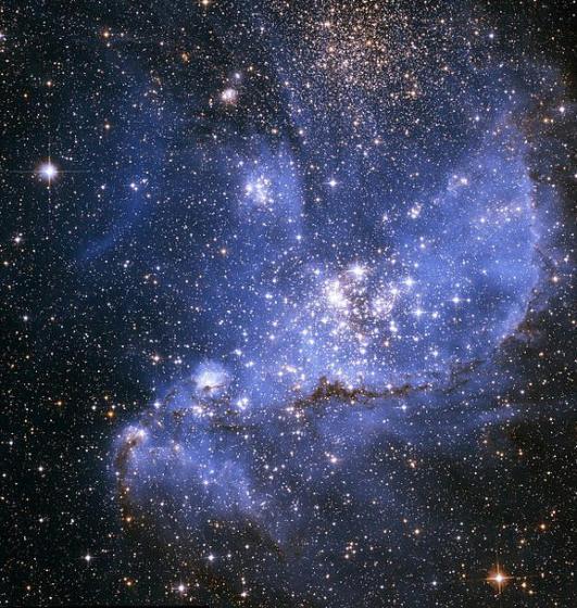 あまり脈絡のない小マゼラン雲の画像 Wikipediaより