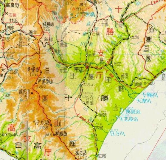 1971年の北海道地図 過去記事より