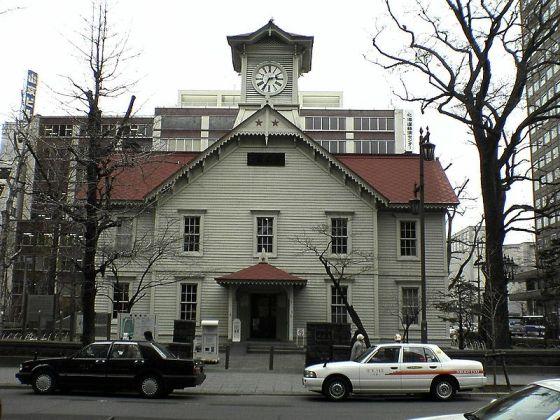 2007年の札幌時計台正面
