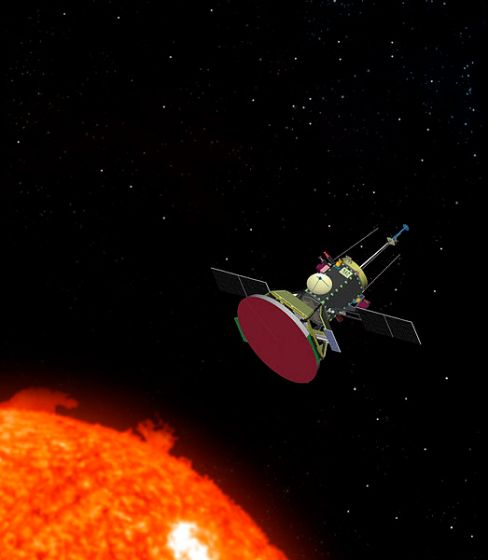 太陽探査機「パーカー・ソーラー・プローブ」のイメージ図