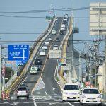 江島大橋の「ベタ踏み坂」(松江→境港)があり得ないレベルの勾配