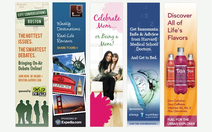 Examples of vertical banner adsThe 2nd form the left banner ad - advertisement brochure