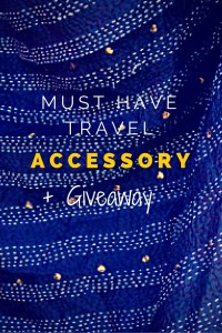 A must have travel accessory (+Giveaway) - the Kantha Travel Wrap.